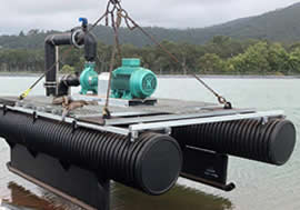 Custom pump floats and Pontoons - JAG Poly Maintenance Services - On site pipe repairs, Scheduled maintenance service, Plant shut down services, Emergency breakdown, PE tank repairs