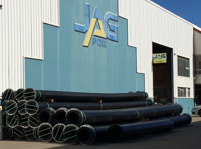 Flanged poly pipe at JagPoly
